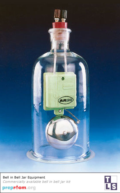 Bell in a Bell Jar (Vacuum Jar) - Science Equipment used in School