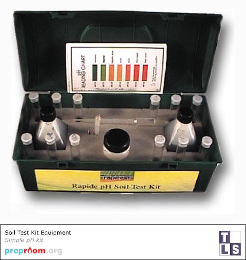 Soil test kit science equipment used in school and for Soil nutrient test kit