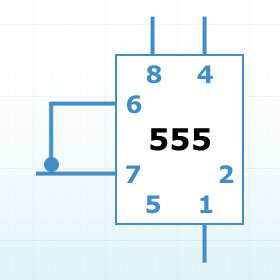 Fig 1: 555 timer IC