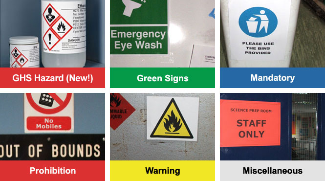 labels and signs