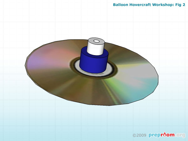 Fig 2: Sports cap attached to the CD