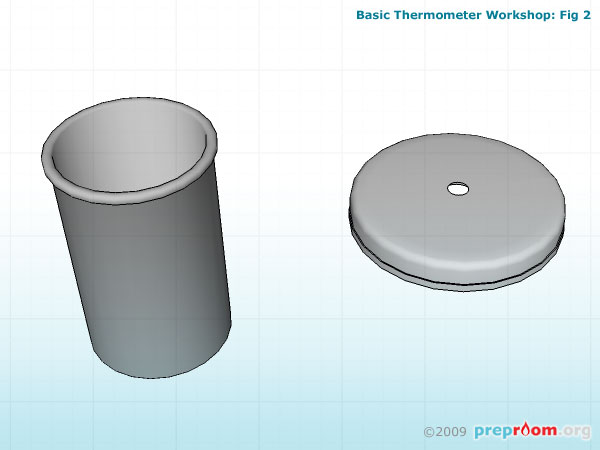 Fig 2: Cap of the canister with a hole drilled in the centre