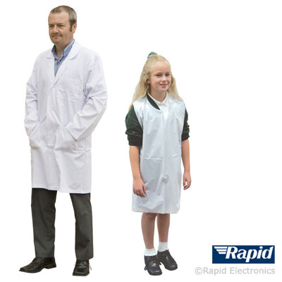 Standard labcoat and disposable apron
