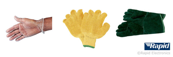 Disposable gloves, general use gloves and heatproof gauntlets